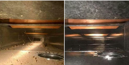Picture shows what professional air duct cleaning should look like after job is complete.