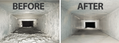 Picture of clean air vents in  a condo before and after in Toronto.